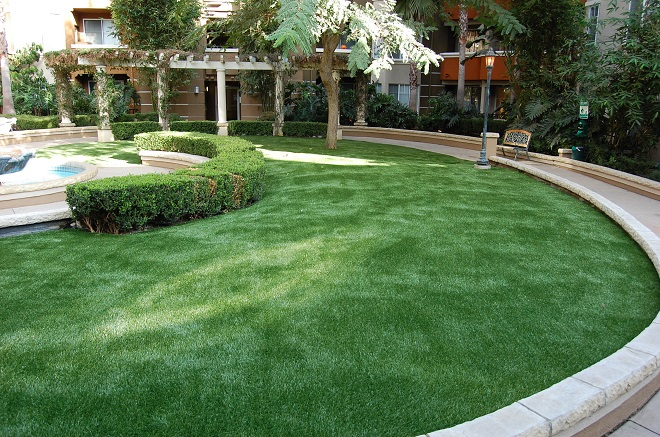 Best landscape designs with fake grass newturf for Garden design ideas artificial grass